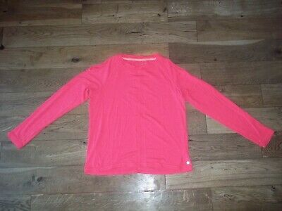 * Layers ** Bright Pink Training Long Sleeve Top Xl Girls Age 12-15 Years *Used*