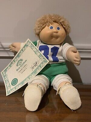 """UNIQUE cabbage patch kids 1985 doll """"timothy samuel"""" blonde hair blue eyes#31"""
