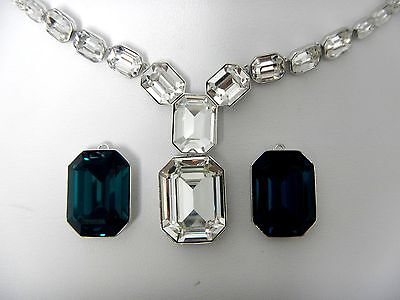 Retired Adaption Detachable Crystals Collar Necklace Swarovski Jewelry   5043652