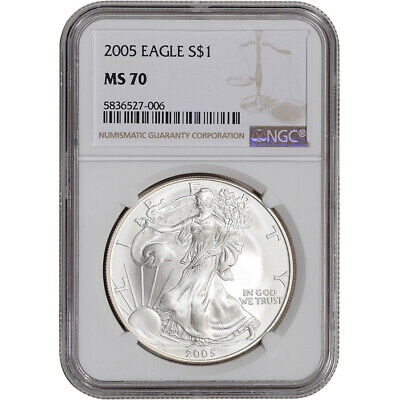 2005 American Silver Eagle - NGC MS70