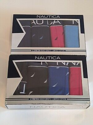 Two NAUTICA of 4-Pack Stretch Boxer Briefs LIMITED EDITION SIZE L Brand New Box