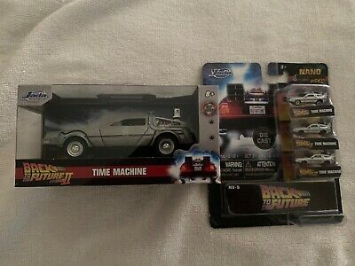 back to the future 2 time machine and jada mini time machine