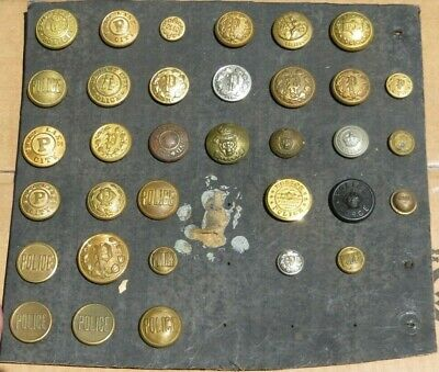 Lot of Early Obsolete Police Uniform Buttons Gilt