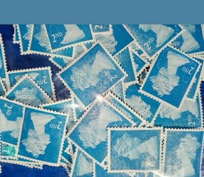 500 2nd Class Unfranked Stamps Security Type Off Paper No Gum A+ quality