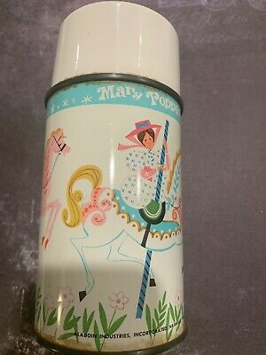 ORIGINAL 1964 WALT DISNEY MARY POPPINS ALADDIN THERMOS vintage