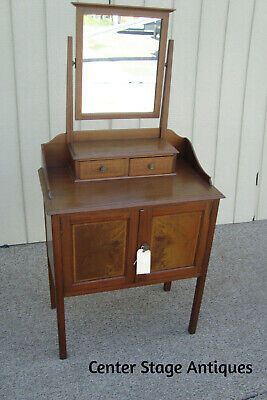 60724 Inlaid Vanity Desk With Mirror