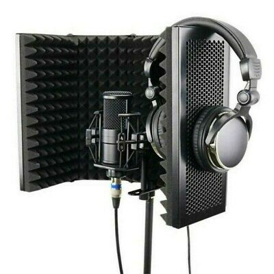Microphone Isolation Shield Sound Absorbing Foam Cover for Recording Studio USA
