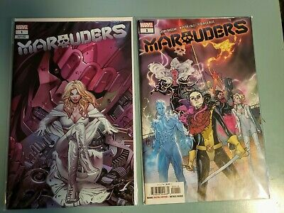 Marauders Lot of 2(Marvel 2019) Both #1's, Original Cover and Greg Land Variant!