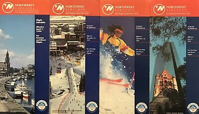 Northwest Airlines Timetables Lot of 4
