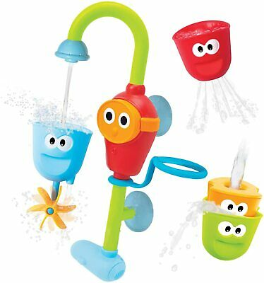 Baby Bath Toy Flow N Fill Spout 3 Stackable Cups and Waterfall Spout