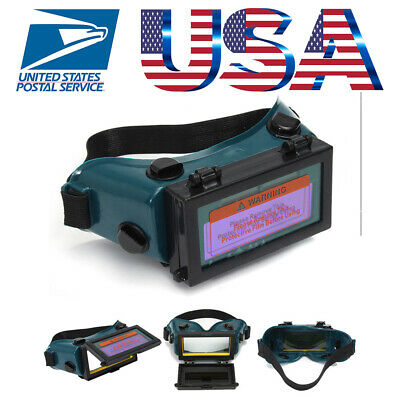 Solar Powered Auto Darkening Welding Glasses Helmet Mask Eyes Goggle Welder US