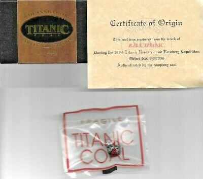 RMS Titanic Boxed Coal from the 1994 TitanicResearch and Recovery Expedition