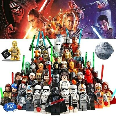Lego minifigures star wars clone custom compatibili miniatures darth vader yoda