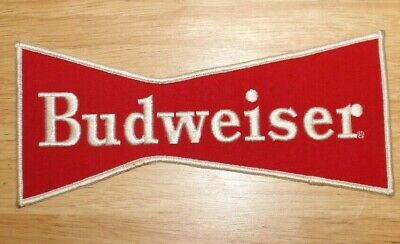 NOS UNUSED Budweiser Beer Large BowTie Patch Embroidered Patch Vintage 9 Inches