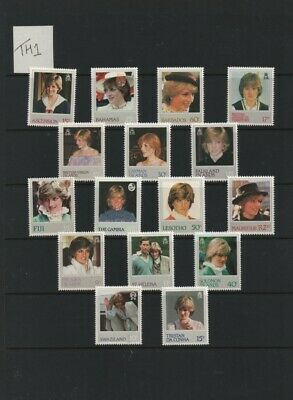 Lot TH1: British Commonwealth unmounted mint Princess Diana stamp selection