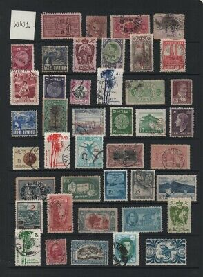 Lot WW1: Mixed world early used stamp selection