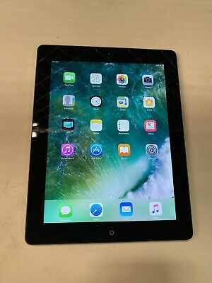 Apple iPad 4th Gen. 64GB, Wi-Fi + Cellular (Unlocked), A1460, 9.7in - Black