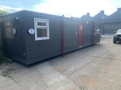 Portable Cabin Site Office + Canteen + Toilet  Great Condition 32ft