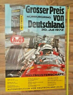 Poster 1972 German F1 Grand Prix Nürburgring Ickx Regazzoni Peterson Lauda Hulme