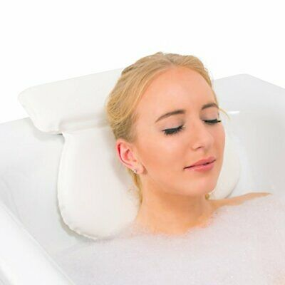 Relux Premium Waterproof Bath Pillow Cushion with Non-Slip Suction Cups