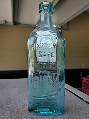 Warner's Safe Remedies Rochester NY, Aqua glass