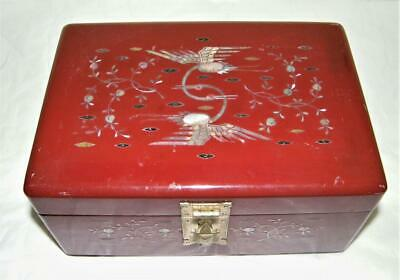 Chinese Inlaid Mother of Pearl Jewelry Box