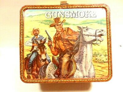 vintage 1973 Gunsmoke lunch box (no thermos) made by Aladdin Industries