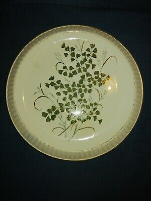 Edwardian China Bread Plate. Gilded Grass. No Maker.