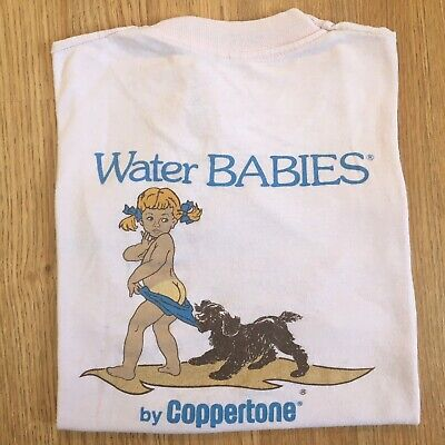 80s Vintage KIDS Coppertone Sunscreen Screen Stars Tshirt Youth Medium