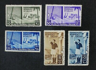CKStamps: Italian Colonies Stamps Collection Scott#46-50 Mint H OG