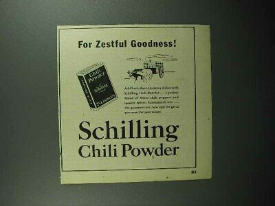 1947 Schilling Chili Powder Ad - For Zestful Goodness