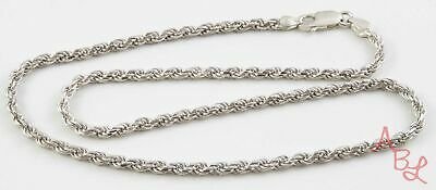 """Sterling Silver Vintage 925 Rope Chain Link Necklace 17"""" (16g) - 813727"""