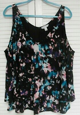 "Women's Plus Size 1X, Sleeveless Tunic Style Top by ""Boutique,"" Multicolors"