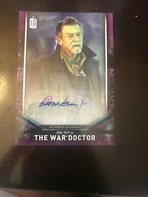Deceased Autograph John Hurt Dr  Who 2018 Signature Series Topps Auto