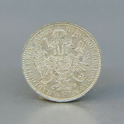 1858 Austria 1/4 Florin Silver Coin Gem Uncirculated A Beauty
