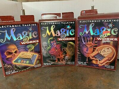 Magic Works - Milton Bradley: 3 Electronic Talking Tricks Vintage 1995