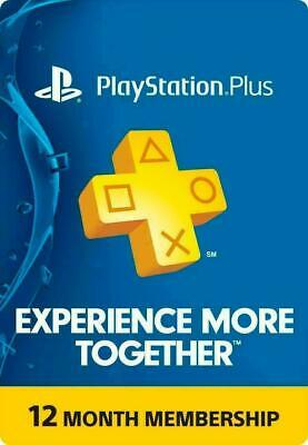 PS Network PlayStation Plus: 1 Year / 12 Month - US ONLY -✅DIGITAL CODE ✅