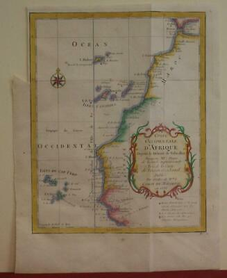 Canry Islands Morocco Mauritania Senegal Gambia 1746 Bellin Antique Map
