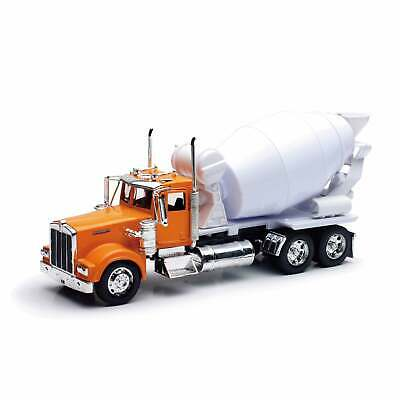 New Ray Die Cast 1:32 Kenworth W900 Cement Mixer Orange