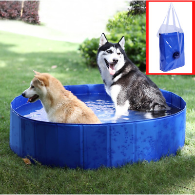 BATHTUB PET Pool DOG CAT Swimming Tub Bath Outdoor Indoor Collapsible FOLDABLE