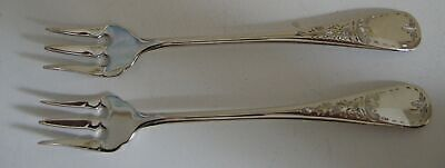 Two Birks Queen Mary Regency Plate Seafood Cocktail Forks