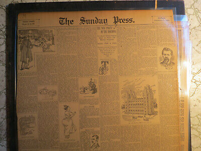 Mormon Religion Newspaper 1893 THE NEW POLICY OF THE MORMONS MAINTAIN POLYGIMY