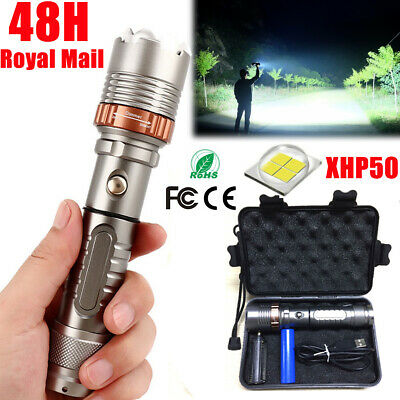 Ultra Bright 900000LM T6 Zoom Flashlight LED USB Rechargeable Torch HeadLamp