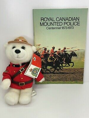 RCMP Royal Canadian Mounted Police Booklet & Plush Sergeant Snowflake Bear