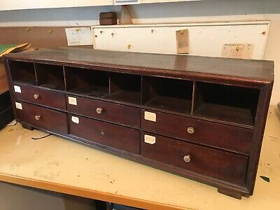 Vintage Antique Small Chest of Drawers Post Letter Medicine Cabinet Stationery