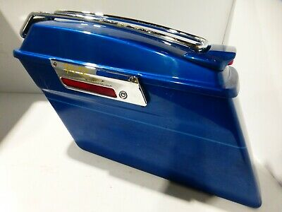 2005 Harley Davidson Flhtcui, Blue Lh Left Saddlebag (Ops7012)