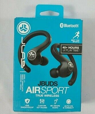 JLab JBuds Air Sport Bluetooth True Wireless In-Ear Headphones Black