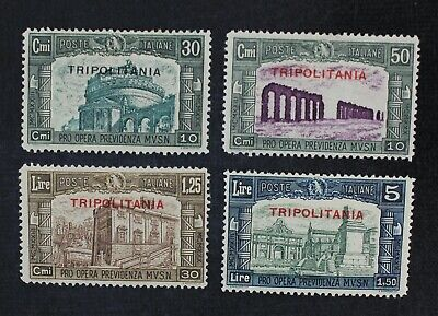 CKStamps: Italy Stamps Collection Tripolitania Scott#B50-B53 Mint H OG
