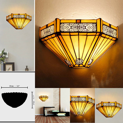 Tiffany Style Wall Sconce Light Sunflower Wall Washer Lamp Room Hotel Corridor