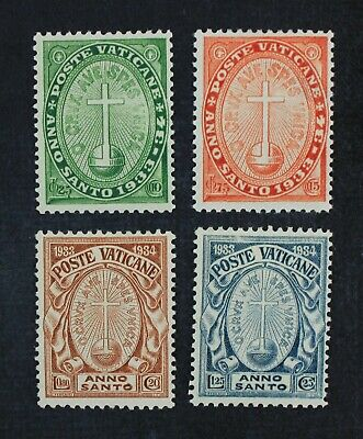 CKStamps: Italy Stamps Collection Vatican City Scott#B1-B4 Mint H OG #B2 Thin